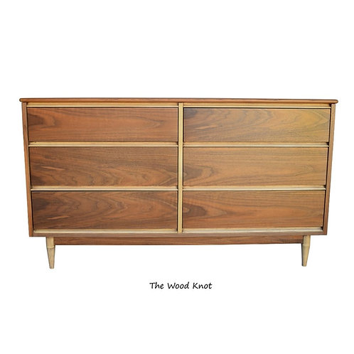Mid-Century Modern Dresser. Mahogany and Teak