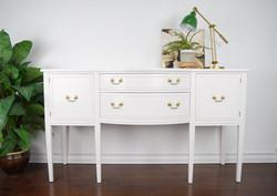 white antique, vintage sideboard