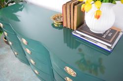 High gloss green sideboard