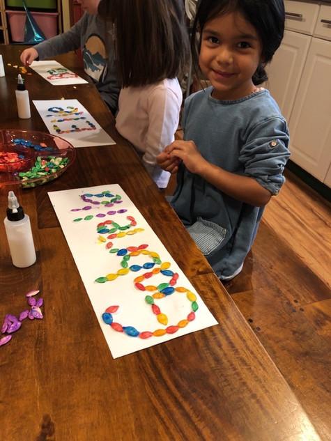 child using craft supplies cks