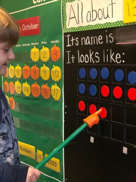 child using board pointer cks