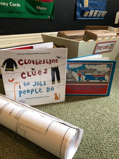 books on floor cks