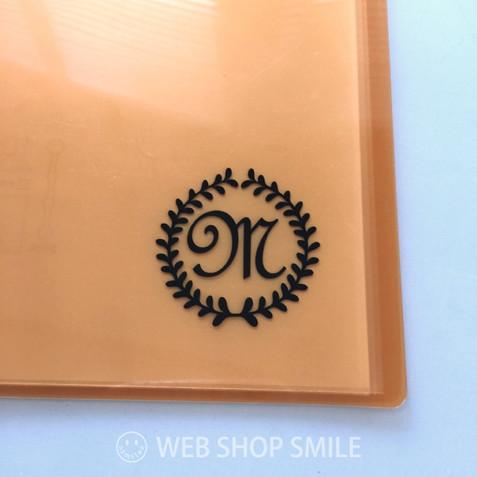 nc-smile イニシャル 英字 アルファベット デコレーション シール ステッカー フレンチ1 ブラック (M)