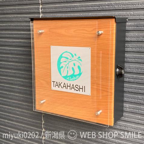 nc-smile ハワイアン ステッカー モンステラ アロハ Monstera Aloha (ミントグリーン)