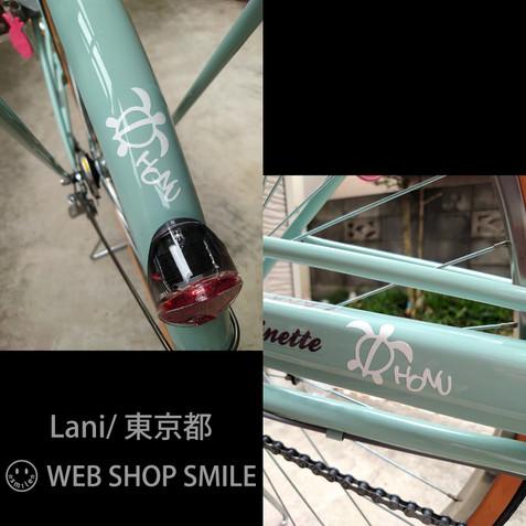 nc-smile ハワイアンステッカー ホヌ S3 (ホワイト)