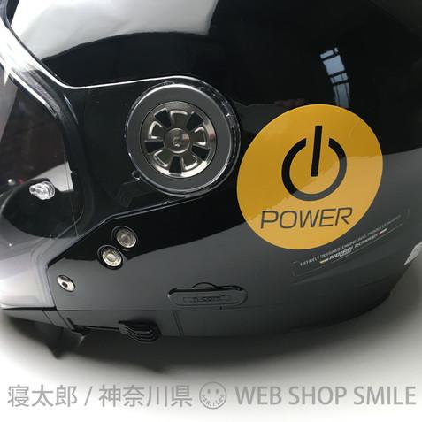 nc-smile 反射 ステッカー POWER 電源スイッチ アイコン 安全 注意 ピクト サイン カッティングステッカー 車 窓ガラス 屋外用
