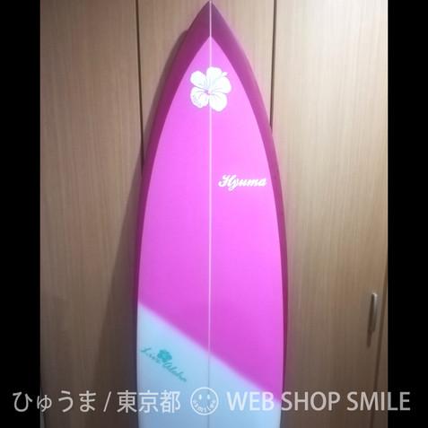 nc-smile ハワイアンステッカー ハイビスカス Aloha (A, ホワイト)