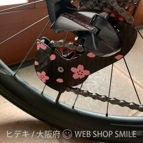 nc-smile 桜 さくら サクラ Petals of cherry blossoms シール カッティングステッカー ビニールステッカー 屋外OK (サーモンピンク)