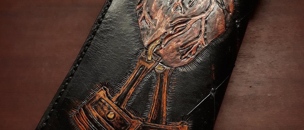 Carteira Longa Heart NOVE13 Biker Wallet