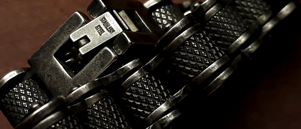 Pulseira em Aço Inox Corrente Moto