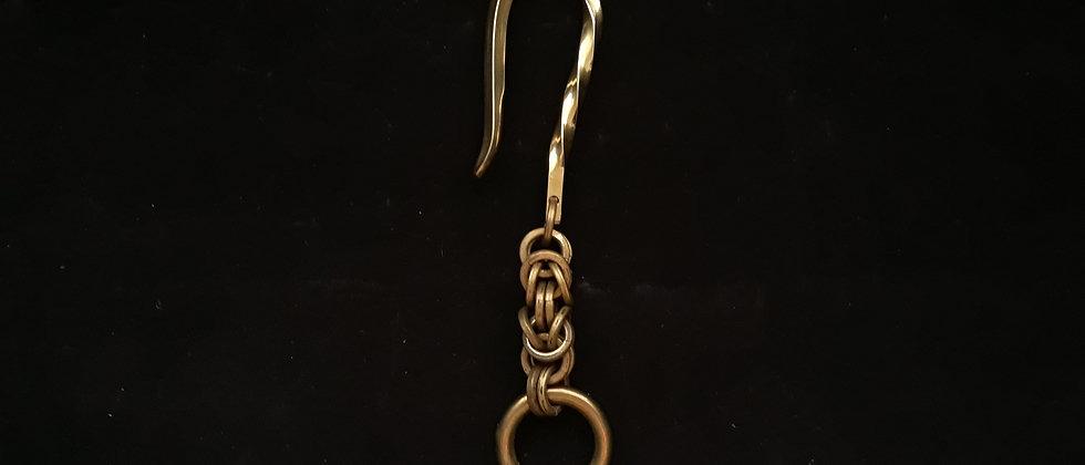 Chaveiro Key Hook Latão Maciço