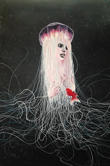 """""""Into Me"""" 13x19in fine art print"""