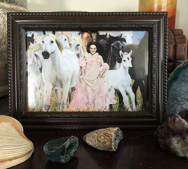 """""""Wild Horses"""" 4x6in framed print"""