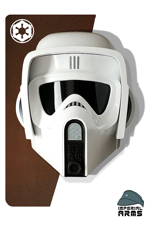 Imperial Biker Scout Trooper Helmet V4 Air Conditioned (Add-ons offered)