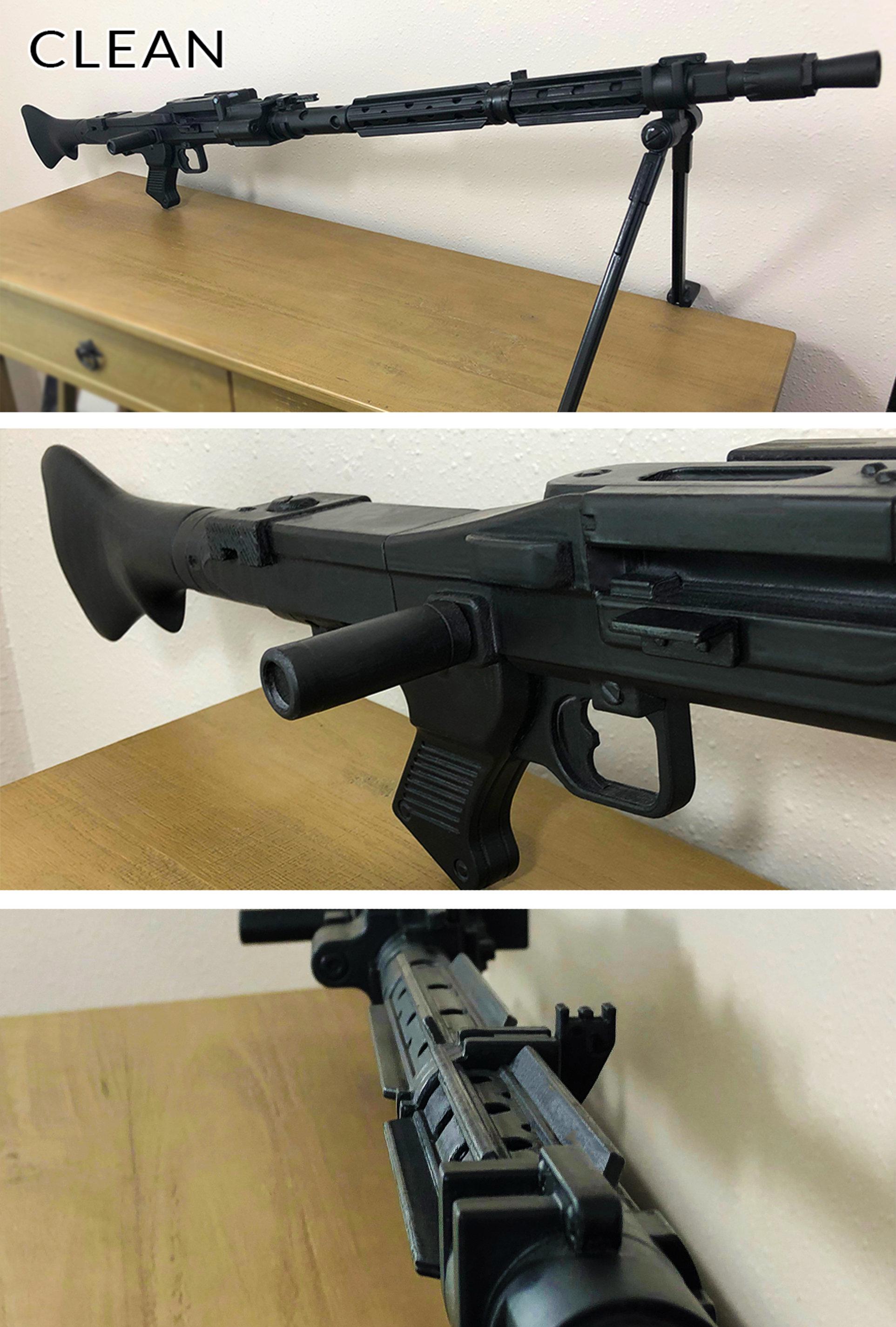 Safe Does Not Shoot DLT-19 Star Wars Reinforced Long-Barreled Blaster Rifle Custom Replica PropWorking Bi-PodBlaze Orange Barrel Plug