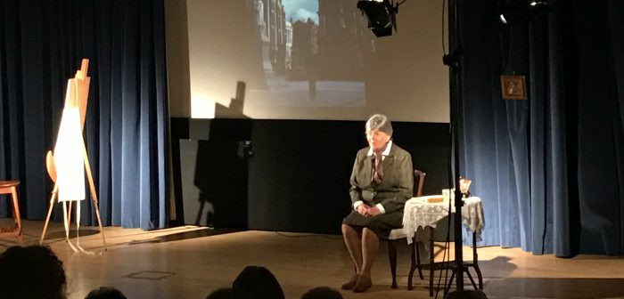 Jacqueline Mulhallen as Sylvia Pankhurst at Stoke Potteries Museum and Art Gallery. Photo from StaffsLive.co.uk
