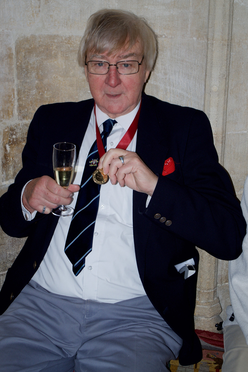Colin Shaw on the occasion of receiving the Etheldreda Medal Award in 2016. Photograph © William Alderson.