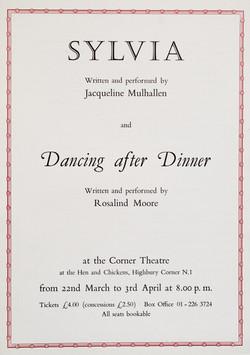 Sylvia leaflet 1988 (front)