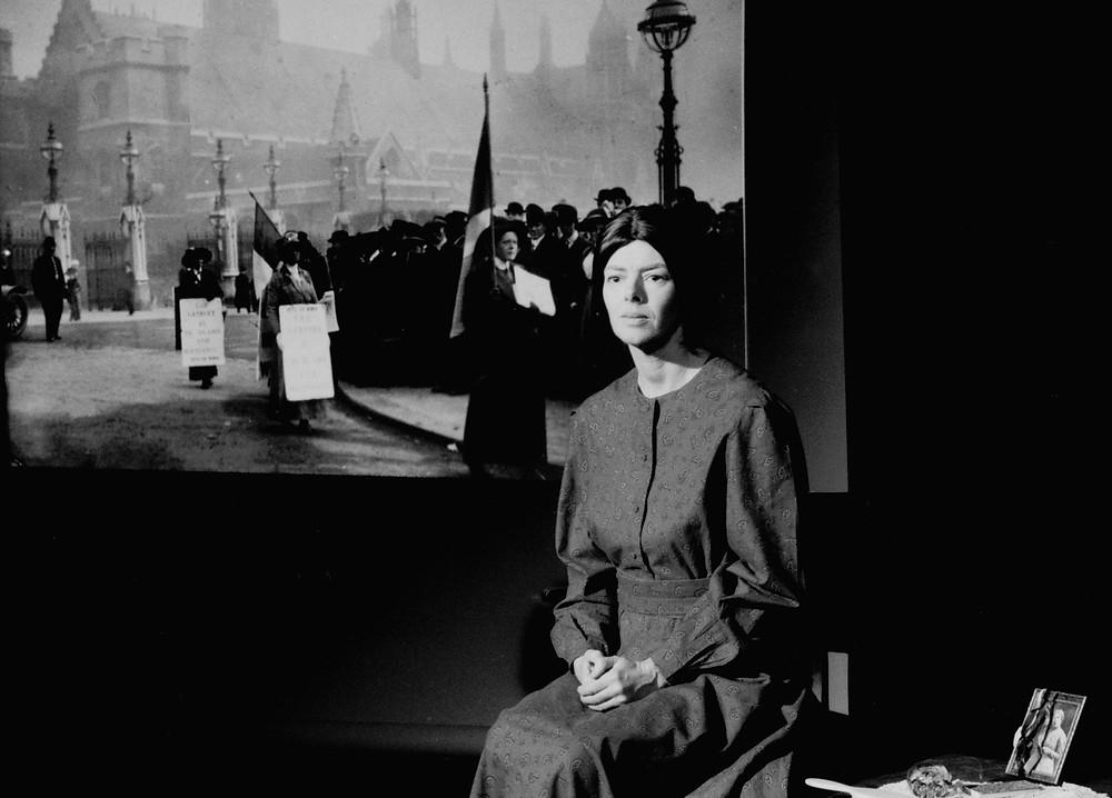 Jacqueline Mulhallen as Sylvia Pankhurst in SYLVIA (1987 version). Photo © William Alderson