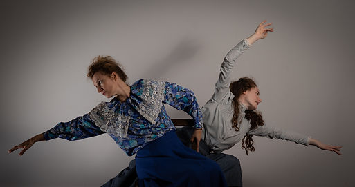 Marianne March and Dolorès Devaujany in one of the dances choreographed by Siân Williams for the 2019 production of Rebels and Friends.