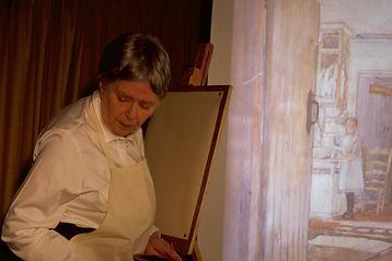 Jacqueline Mulhallen as Sylvia Pankhurst in SYLVIA. Photograph © William Alderson 2017.