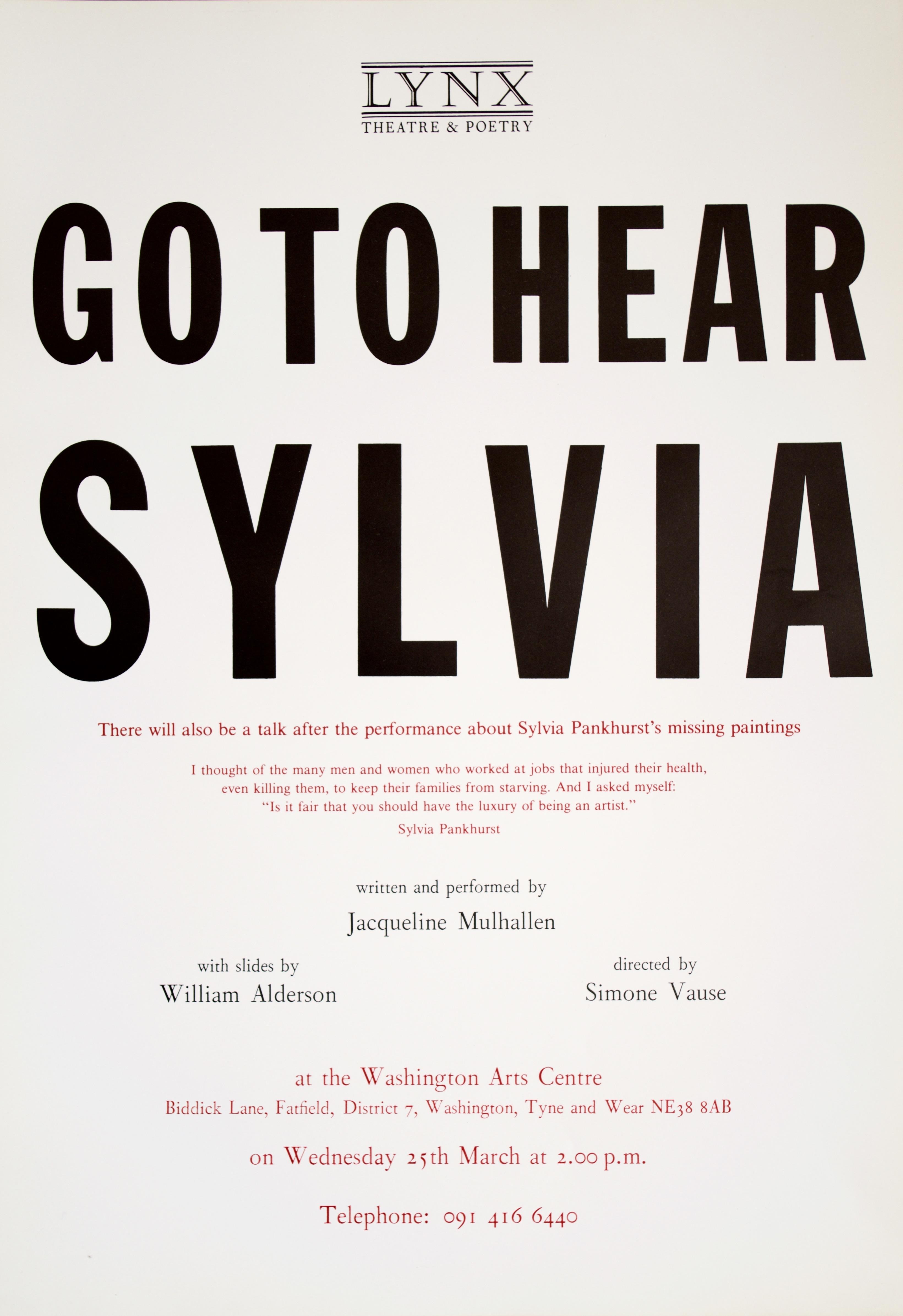 Sylvia poster 1992