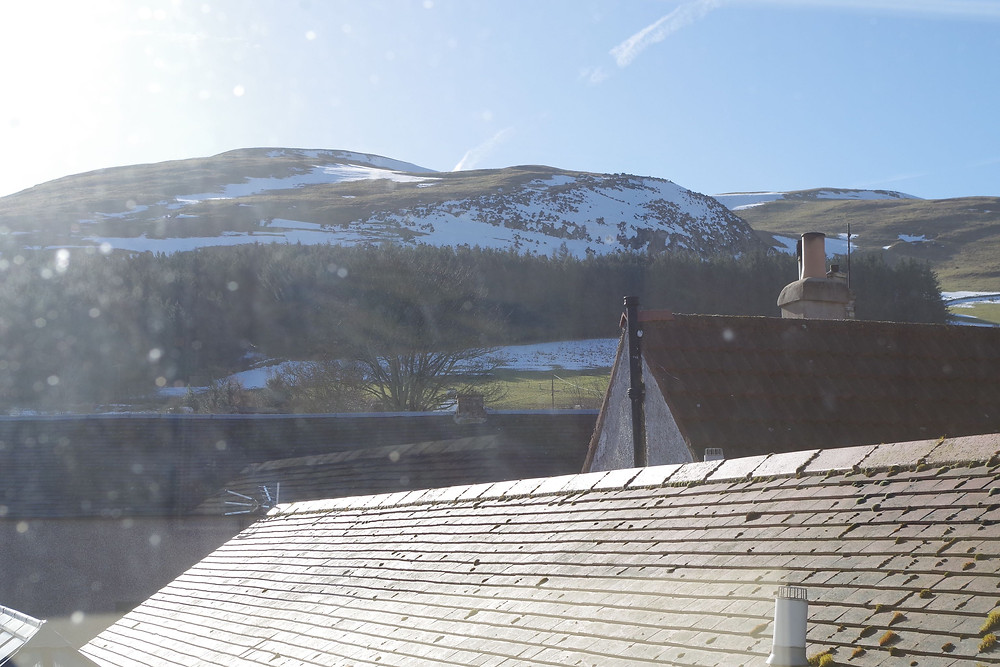 Photo of the view of the Cheviot from the Border Hotel. © William Alderson