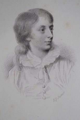 An engraving of Percy Bysshe Shelley