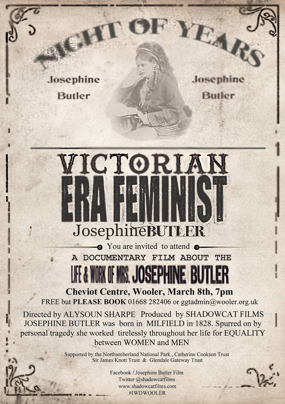 Poster for 'Night of Years' a film about Josephine Butler