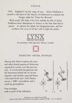 Sylvia leaflet 1988 (back)
