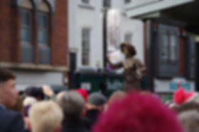 The statue to Alice Hawkins unveiled in Leicester on 4 February 2018. Photo © William Alderson