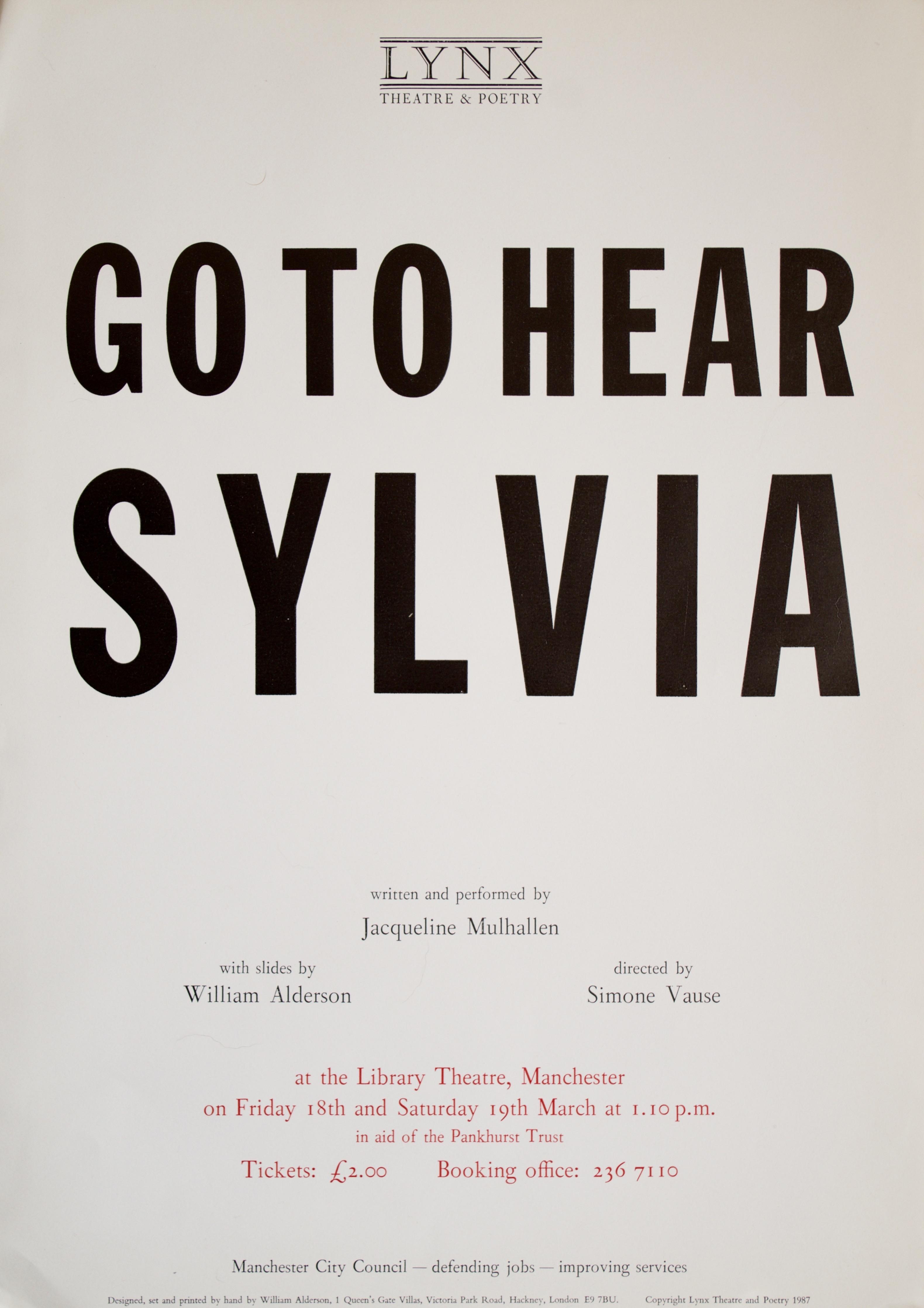 Sylvia poster 1988