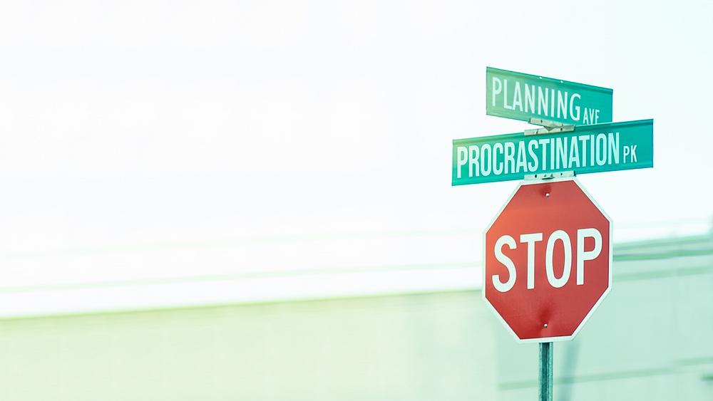 Procrastinating on Financial Planning