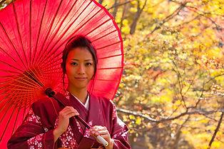 Chica en kimono