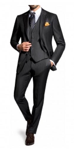 costume_tissus_reda_à_rayure_noir_et_blanc