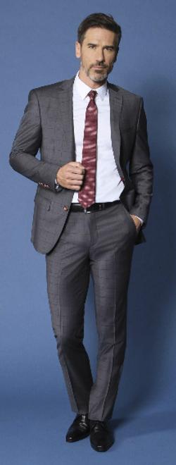Costume Emmanuelle Khanh gris prince de galles