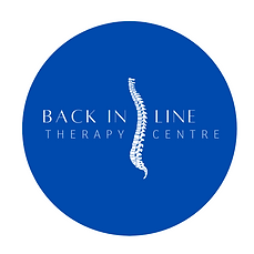 Back in line therapy centre circle logo.