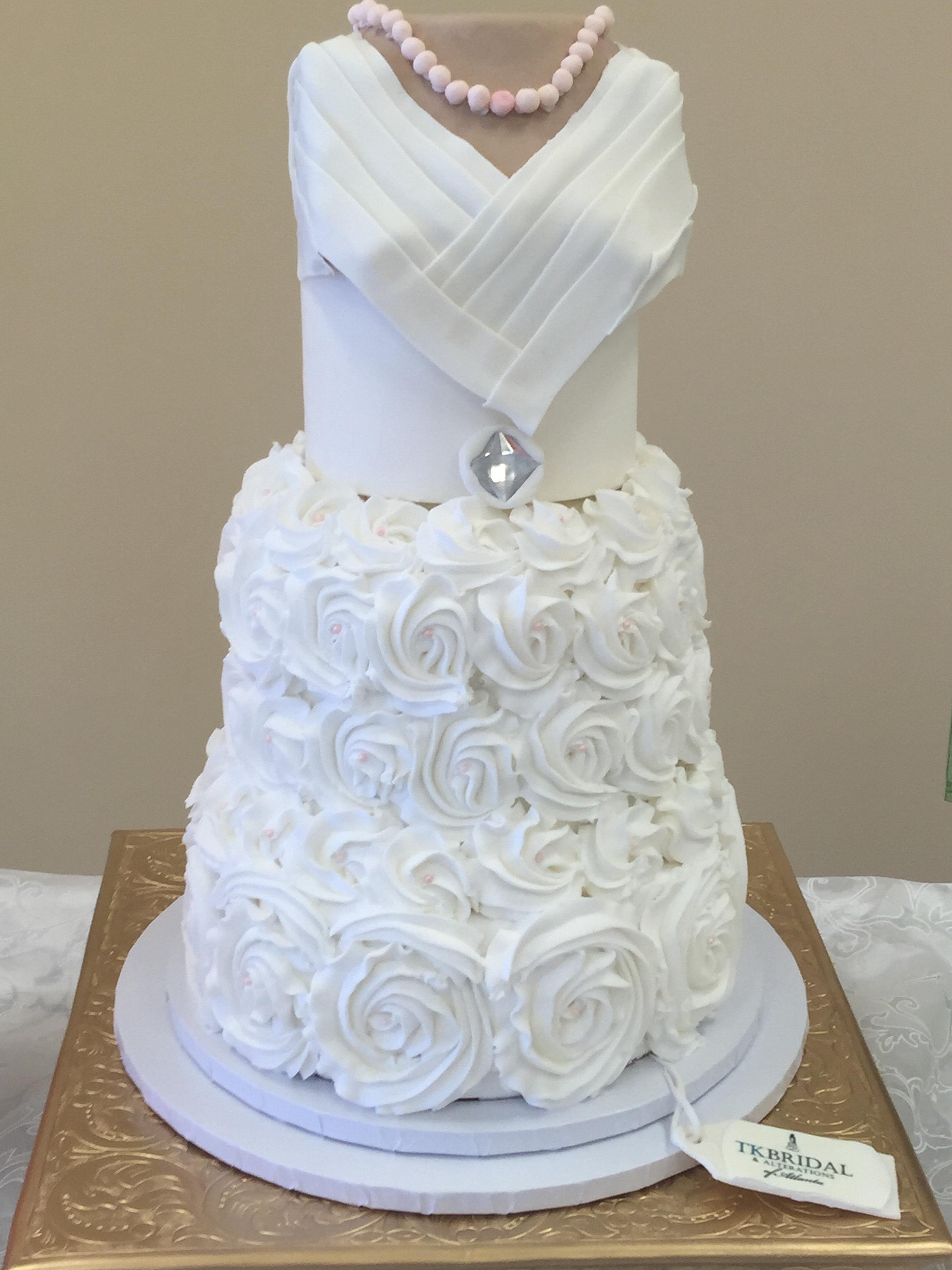 Kellys Cakes Atlanta Wedding Dress Cake
