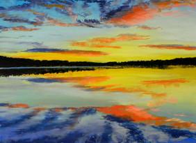 Lake Sunrise 12 x 16