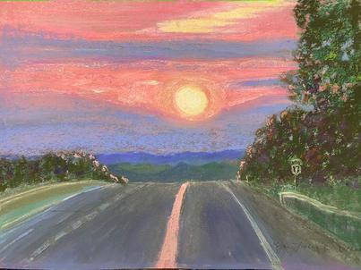 Sunset On Route 17 Catskills