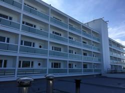 Naples Beach Hotel glass railings