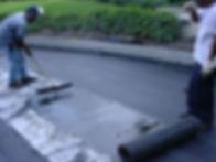 Hot liquid waterproofing of plaza deck