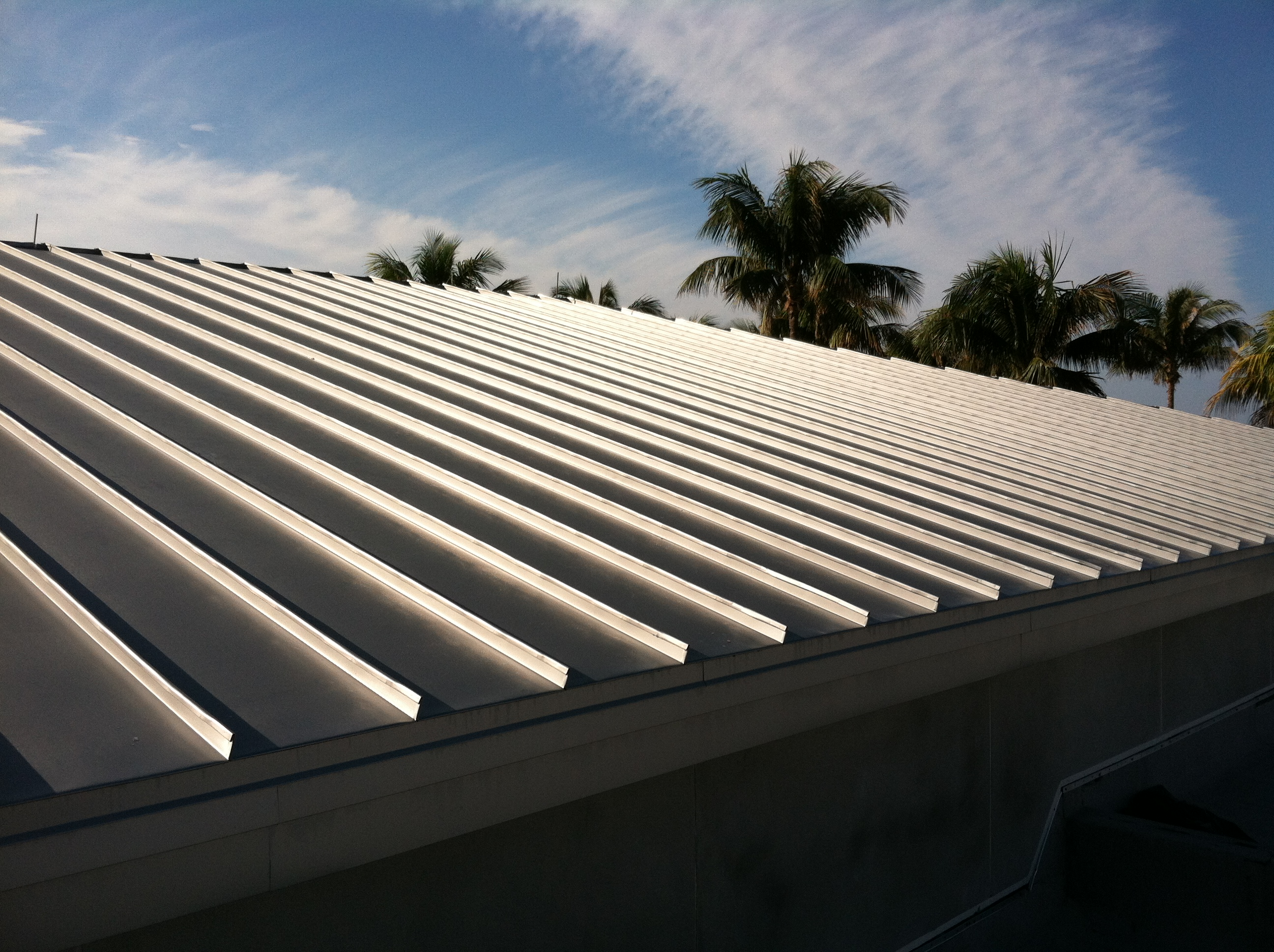 Standing seam metal roof panels