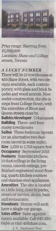 In the News! National Post Homes November 2014