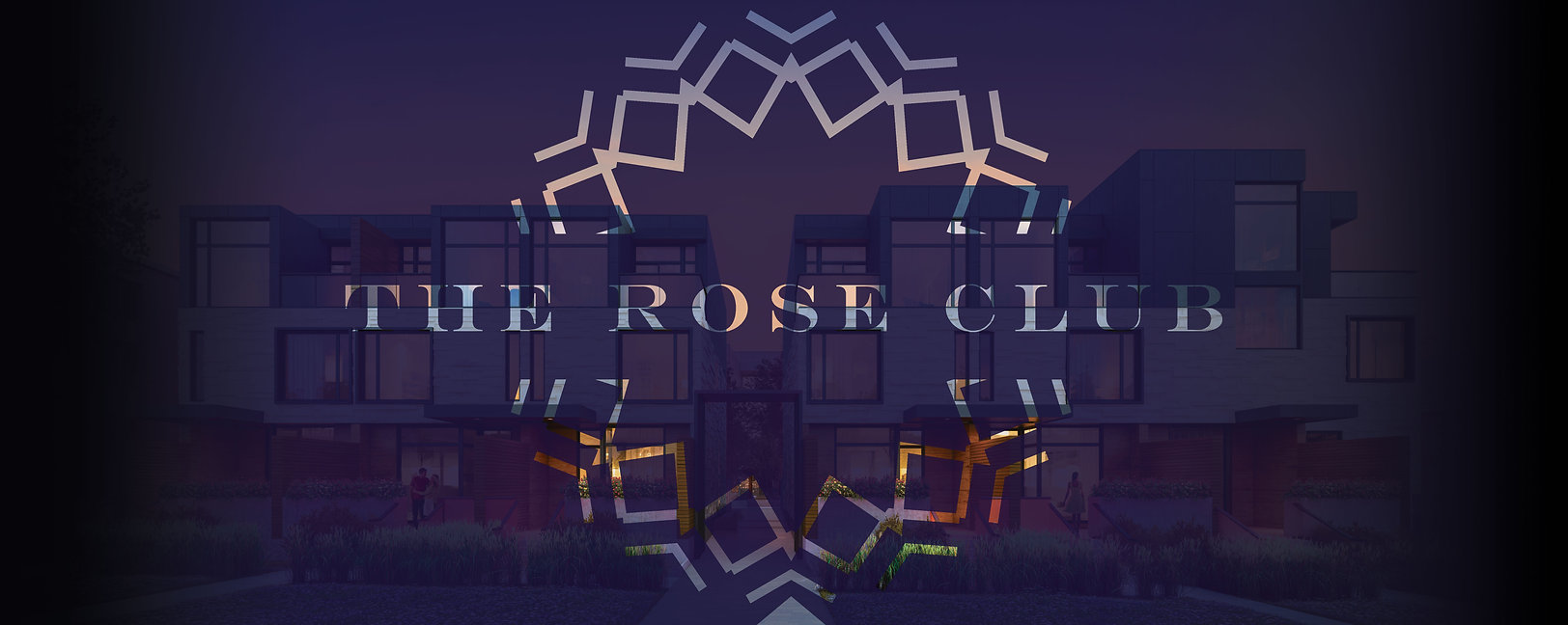 rose club inverse on gradient wide backg