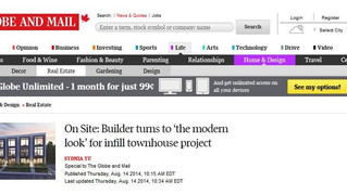 In the News! Globe and Mail August 2014