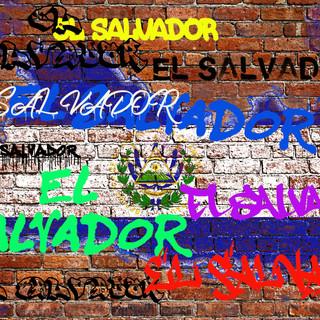Le Salvador wall graffiti