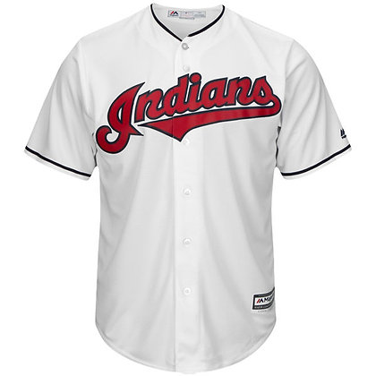 Men's Cleveland Indians Majestic White Home Cool Base Jersey