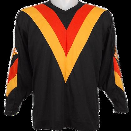 Men's Vancouver Vintage Canucks CCM V Logo Black 1978-1958 Jersey Road