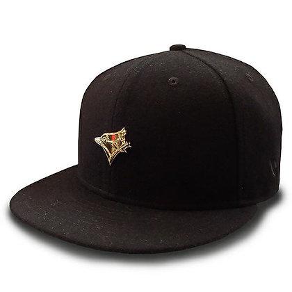Men's Toronto Blue Jays New Era Minimal Gold Logo Wool Black 9FIFTY Snapback